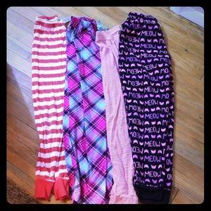 Girls super comfy bundle of Pajama pants!